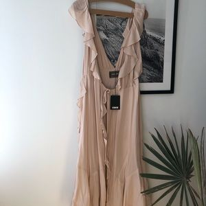 Reformation Paradise Dress in Champagne